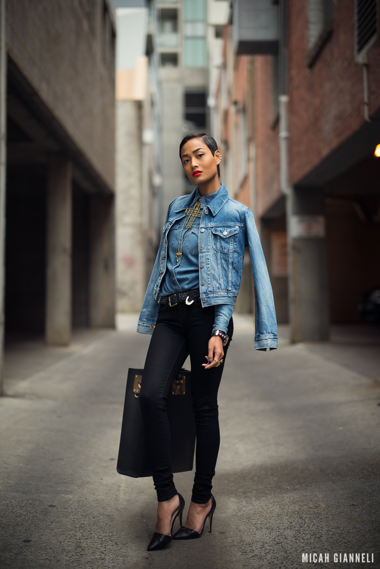Micah Gianneli_Best top personal style fashion blog_Street style editorial_Levi's editorial campaign_Triple double denim_Vera Xane_Save the Last Pinker_Androgynous model girl