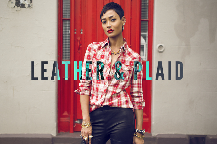 Leather & Plaid