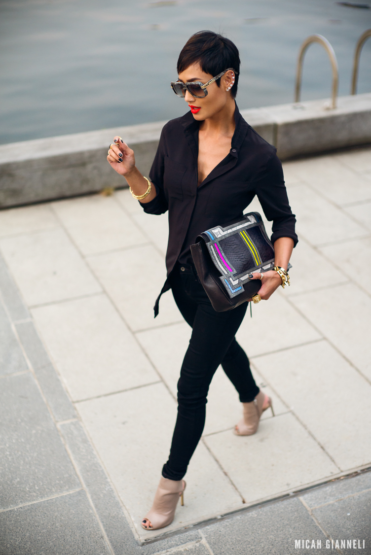 Micah Gianneli_Best top personal style fashion blog_Rihanna style_Barbara Bonner_Wanted Shoes_Cazal Eyewear_Street style editorial_City fashion editorial_Levi's_Siren Shoes