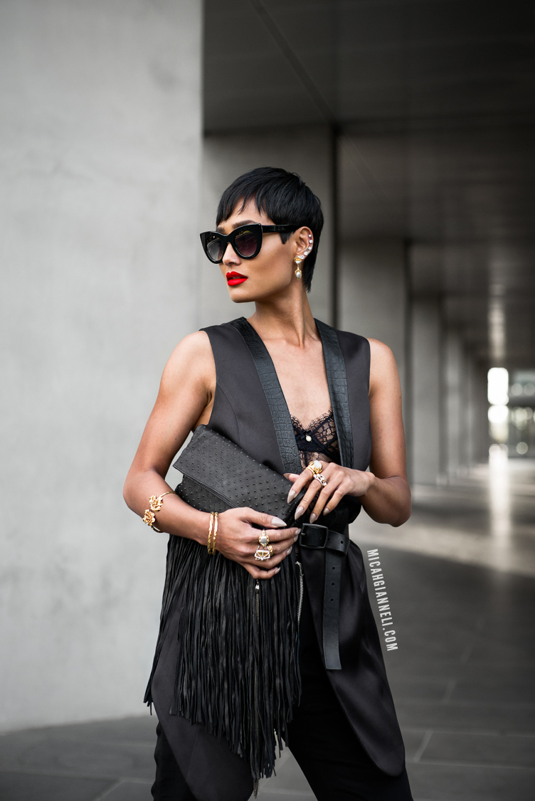 Micah Gianneli_Best top Australian fashion blog_Charlie Brown_Black chic fashion editorial_Street style editorial_Thierry Lasry_Barbara Bonner_Wanted Shoes_NAC Media_Androgynous model editorial_Pushmataaha_Valere