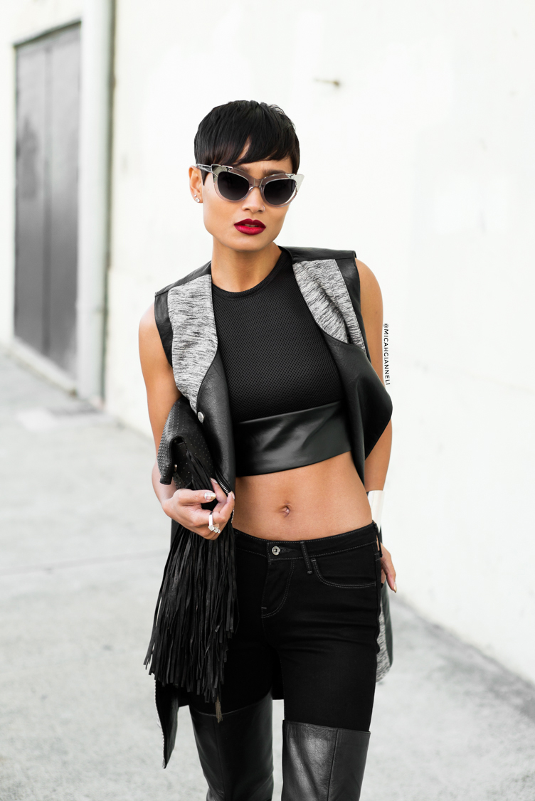 Micah Gianneli_Best top fashion blog_Rihanna Riri style_Street style editorial_Asilio_Saxony_Tony Bianco_Pared Eyewear_Barbara Bonner_Black fashion editorial_Androgynous model editorial