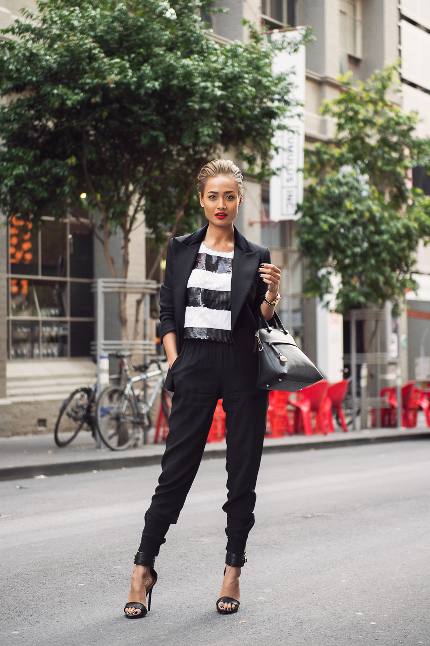 Micah Gianneli_Top fashion style blogger_Streetstyle editorial_Furla_Furla Australia editorial_Eraldo Poletto_Karl lagerfeld_HM Studio_H&M_Short blond hair women_Elliatt_Wanted Shoes