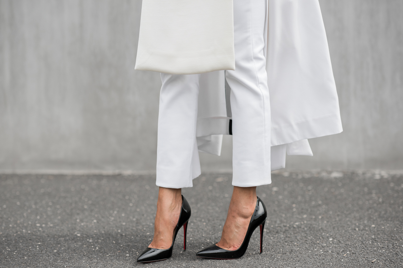 Micah Gianneli_Top fashion style blogger_Josh Goot_Josh Goots editorial street style campaign_All white streetstyle_Christian Louboutin So Kate_Barneys New York