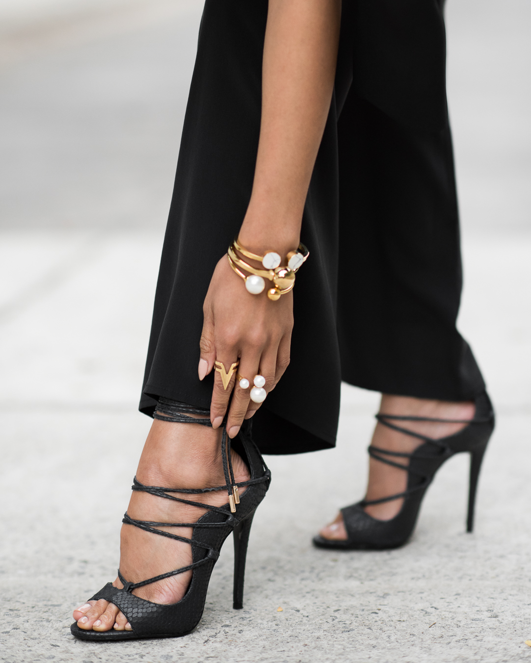 Micah Gianneli-Westfield-Own-Your-Story-Carla-Zampatti-Wanted-Shoes-Amber-Sceats-David-Jones-All-Black-Street-Style-Editorial