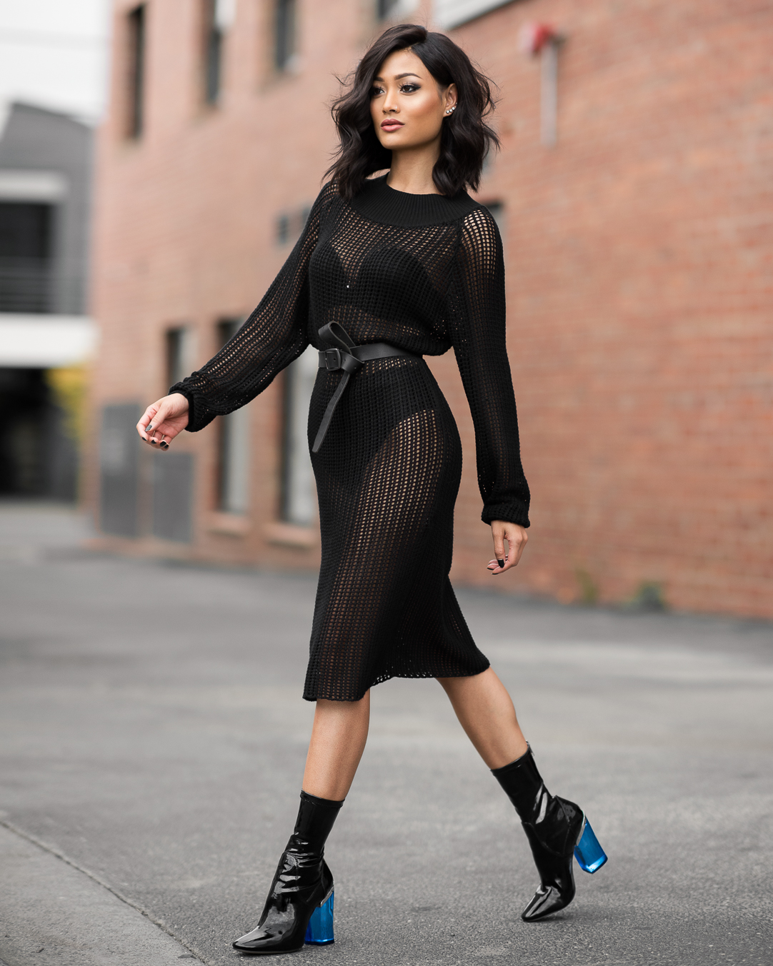 Micah Gianneli-Windsor-Smith-Ankle-Boots-All-Black-Street-Style-Editorial-Footwear-Shoe-Campaign