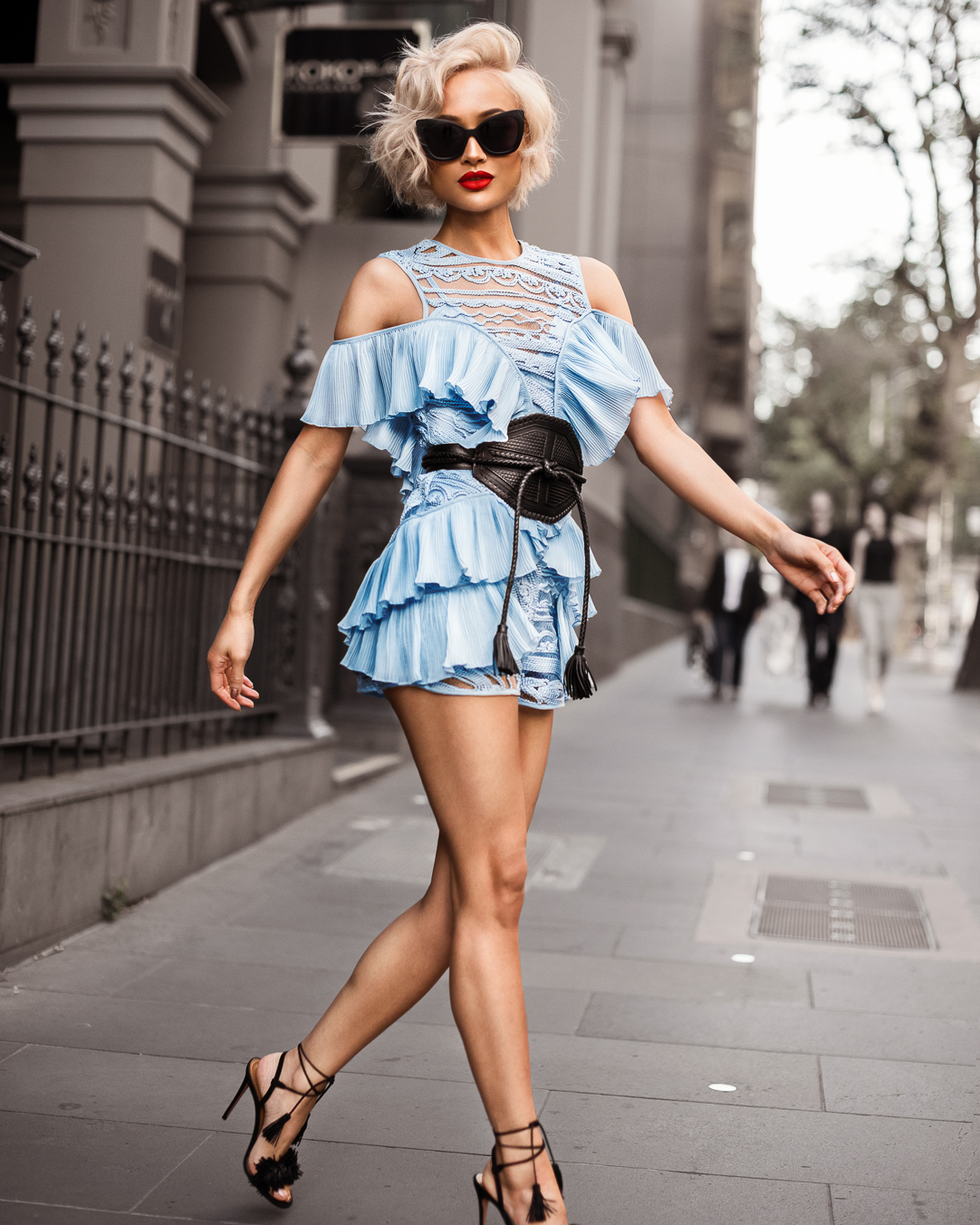 Micah Gianneli-Westfield-Alice McCall-David Jones-Sass and Bide-Aquazzura-Spring Summer-Street Style Editorial-Melbourne Australian Fashion Blogger-Playsuit-The-Front-Line